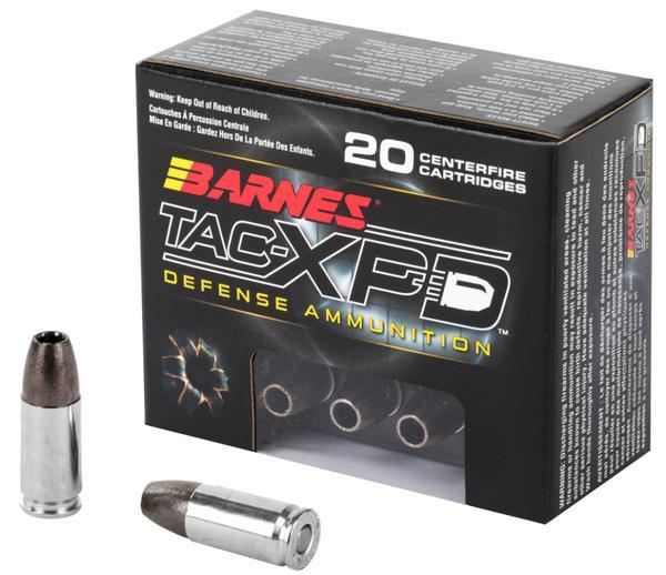 Barnes TAC-XPD 9mm+P 115GR TAC-XP 20Bx