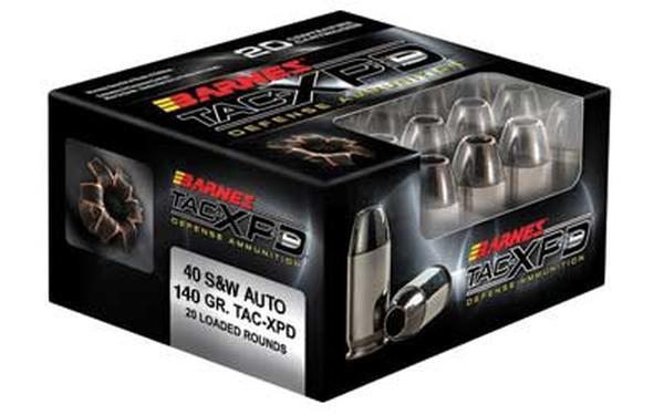Barnes TAC-XPD 40SW 140GR TAC-XP 20 rd
