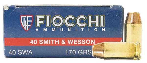 Fiocchi 40 S&W 170 gr FMJTC 50 RD