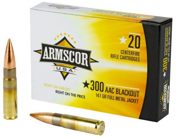 Armscor 300 Blackout 147 GR FMJ 20 rd