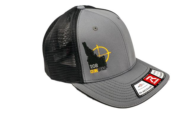 208 GUN SHOP HAT CHARCOAL FLEX FIT S-M