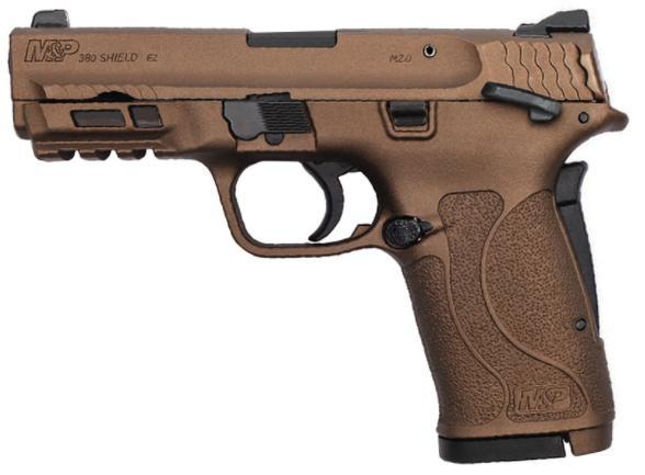 smith & wesson m&p shield ez 380 acp burnt bronze