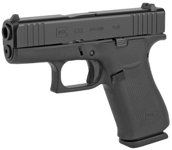 Glock 43X 9mm 10+1 Black
