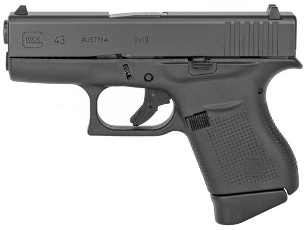 Glock 43 Subcompact 9mm 6+1 Black