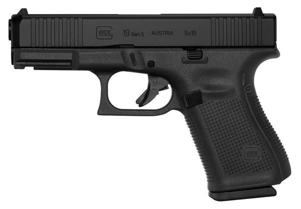 Glock 19 Gen5 9mm 15+1 Black