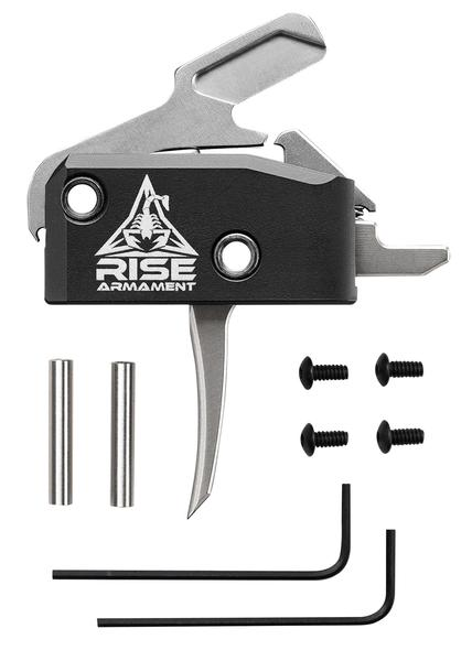 rise armament 434 high performance silver ar trigger flat 3.50lbs