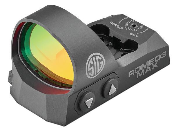 Sig Sauer Romeo3Max with Picatinny Rail 6 MOA Red Dot