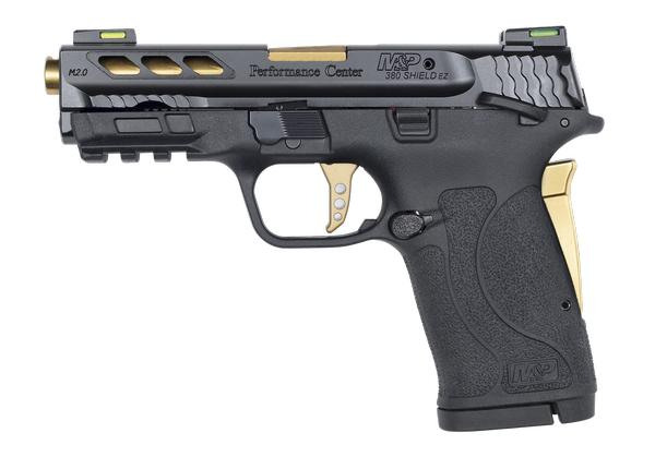 smith & wesson m&p 380 shield ez performance center gold ported