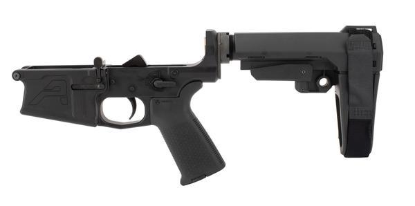 Aero Precision M5 ar10 Pistol Complete Lower Receiver - MOE Grip & SBA3 Brace