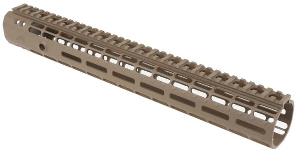 aero precision ar15 enhanced m-lok gen 2 handguard fde 15