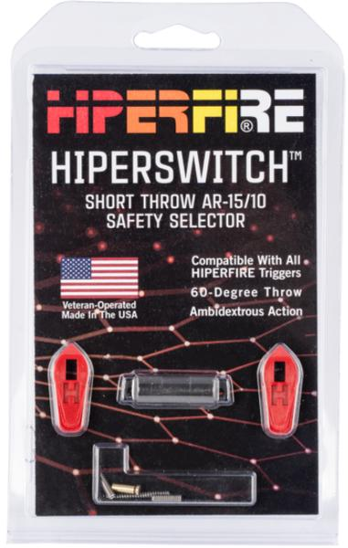 HIPERFIRE Hiperswitch Safety Selector AR Platform Red Ambi