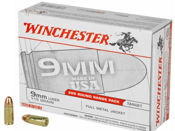 WINchester USA 9MM 115GR FMJ 200 RD