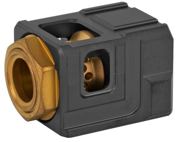 Cgs Qube Compensator Black/Gold glock 19