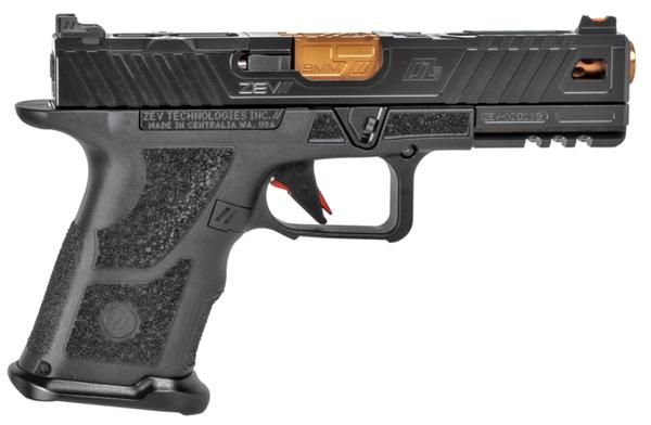 ZEV OZ9 Standard Covert 9mm 15+1 Black Shorty Grip Bronze Barrel