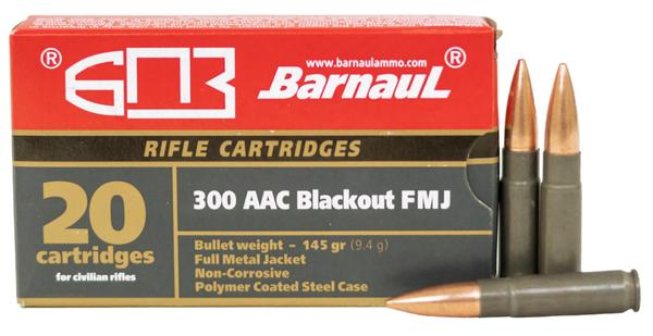Barnaul 300 AAC Blackout 145 gr Full Metal Jacket Steel Case 20