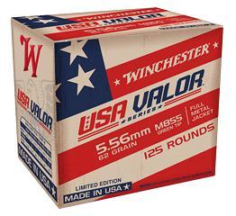 WINCHESTER USA VALOR 5.56 NATO M855 62 GR GREEN TIP