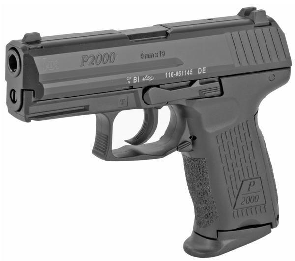 HECKLER KOCH p2000 v2 lem 9mm 10+1 rd