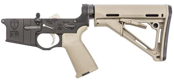 SPIKE'S TACTICAL ST-15 CRUSADER COMPLETE LOWER ENHANCED CTR STOCK FDE