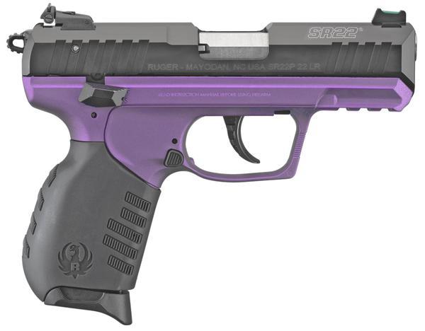 ruger sr22 22 lr 10 rd purple frame