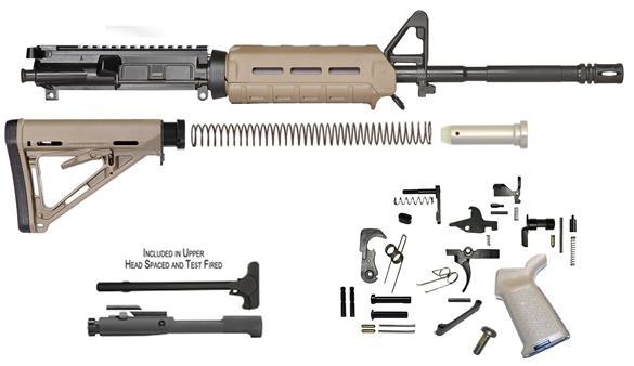 del-ton m4 carbine rifle kit 5.56 nato 16