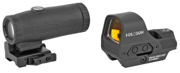 Holosun HS10C Open Reflex Circle Dot Sight and HM3X Magnifier Combo Pack