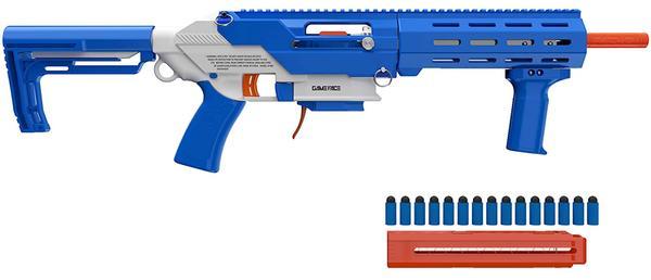GAME FACE PRIME SPRING POWERED FOAM DART BLASTER BLUE