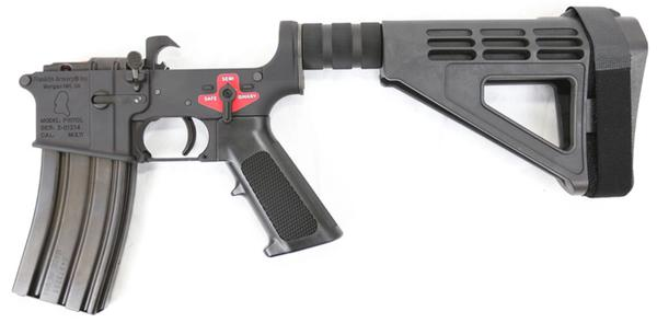 franklin armory complete ar15  lower with binary trigger and sbm4 brace