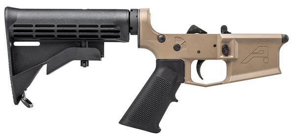 aero precision M4E1 complete lower receiver FDE black furniture